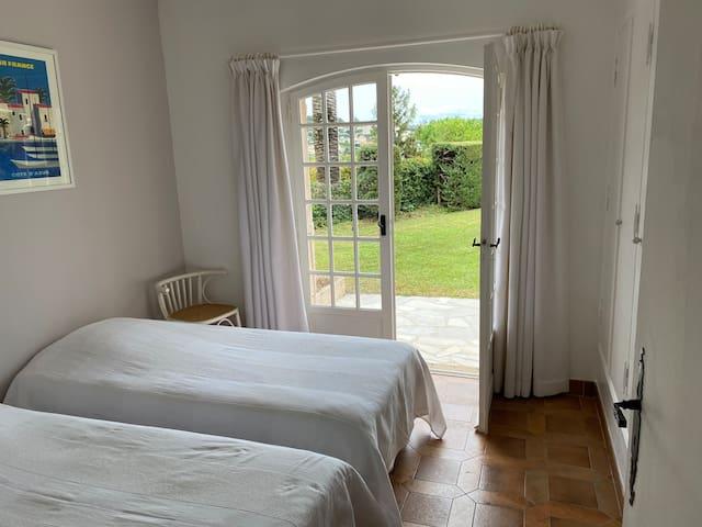 Bedroom 2 - Twin bedroom with double doors