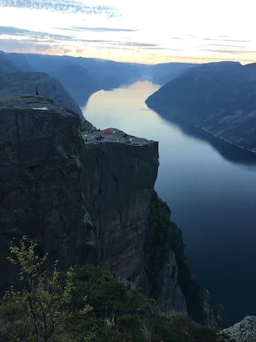 Fantastisk utsikt over sjøen.