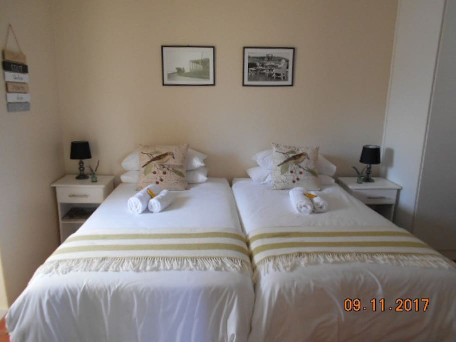 Choose single beds or a double bed