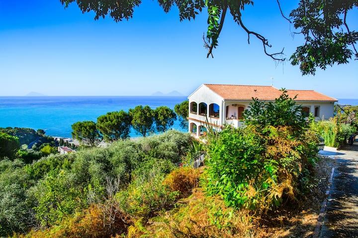 La Casa dei Venti appartamento Lipari, vista isole