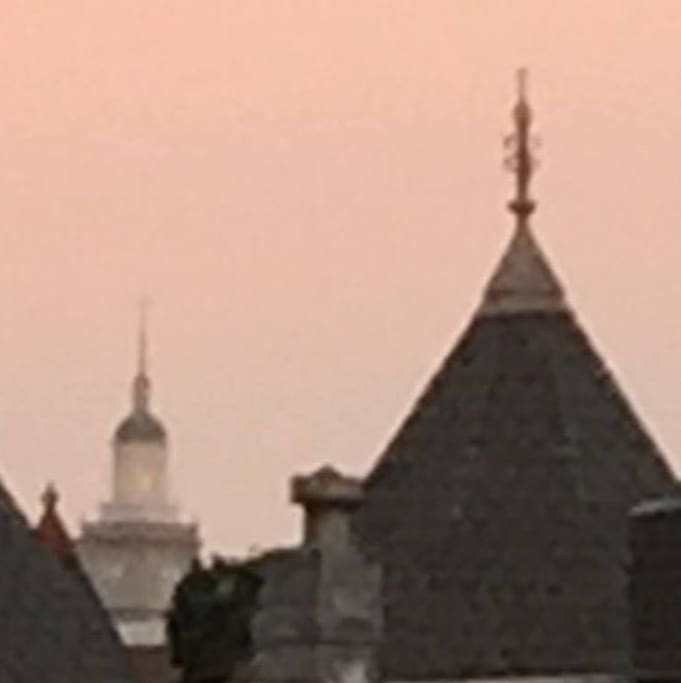 Rooftops of Bloomindale!  Relaxing in the evening