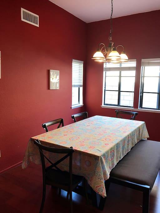 餐厅,可以在此用餐空间宽敞