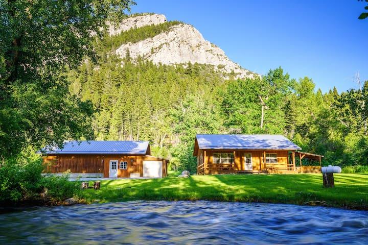 Beautiful views with riverfront property