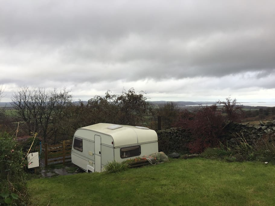 The caravan, great views even on a cloudy day!