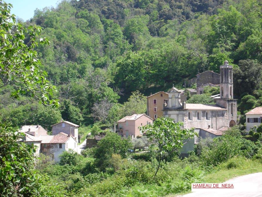 Le hameau de  Nésa