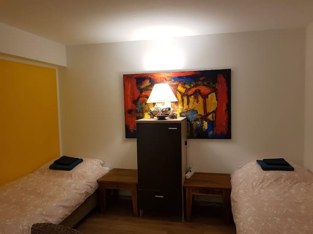Room n. 4 with 2 beds, 3min to the Train Station