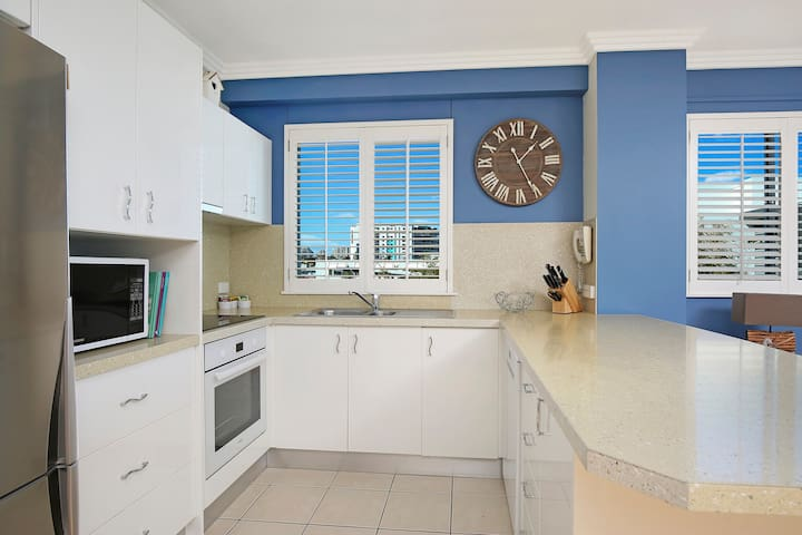Modern and open kitchen with all necessary conveniences