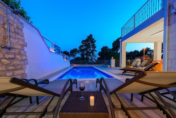 Villa Mlini with Private pool & Sea view