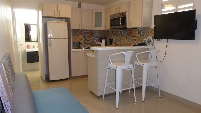 Ponce Los Caobos lovely apt with patio, BBQ, pkg