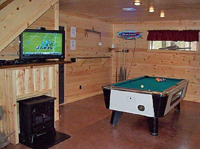 Pool room adjoining living area