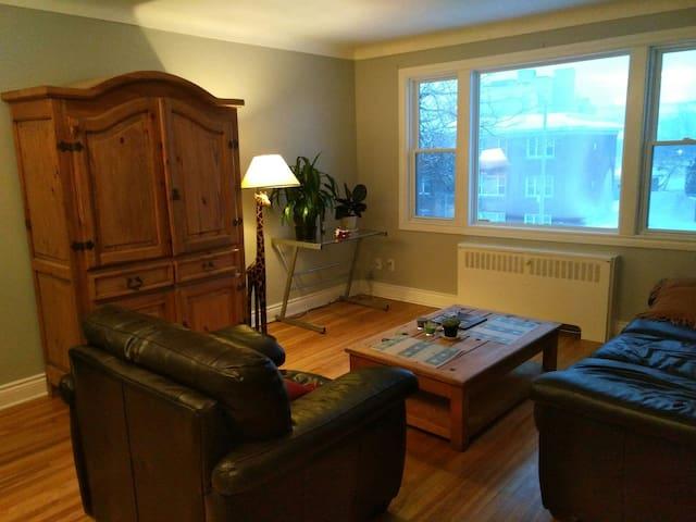 Nice room for 2 in cozy apartment ! - Ottawa - Apartamento
