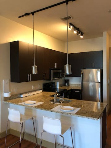 SPACIOUS 2BR IN TRENDY hi-rise.  Downtown Orlando