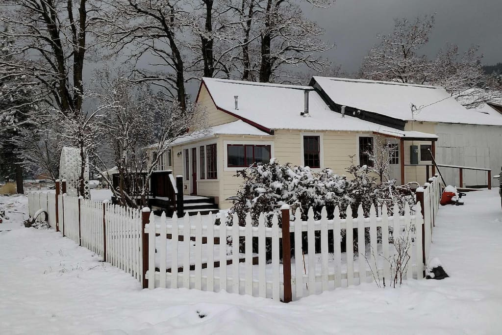 The Railway Cottage - built in 1926 (winter time)