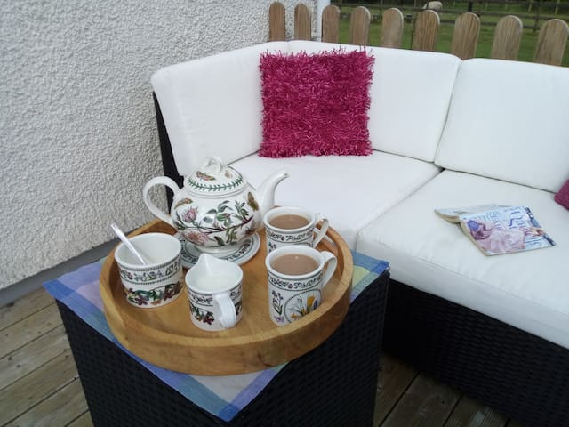 Afternoon tea on arrival on your private decking