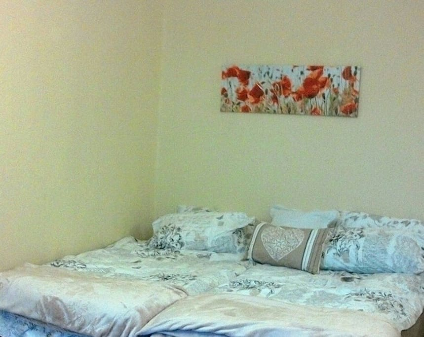 New linen and beds. Happy decor