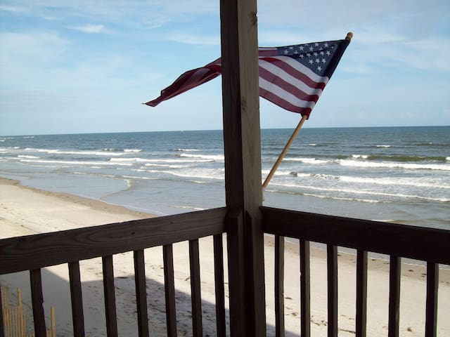 Ocean Front, Peaceful Beach-1 bedroom + bunkbeds - North Topsail Beach