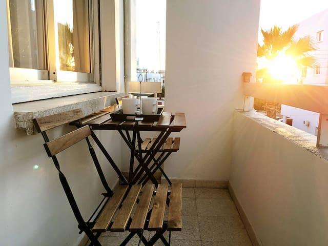 Balcony with street view