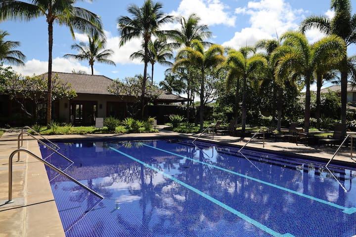 Enjoy KaMilo's lap pool and quiet area with overlooking fitness center