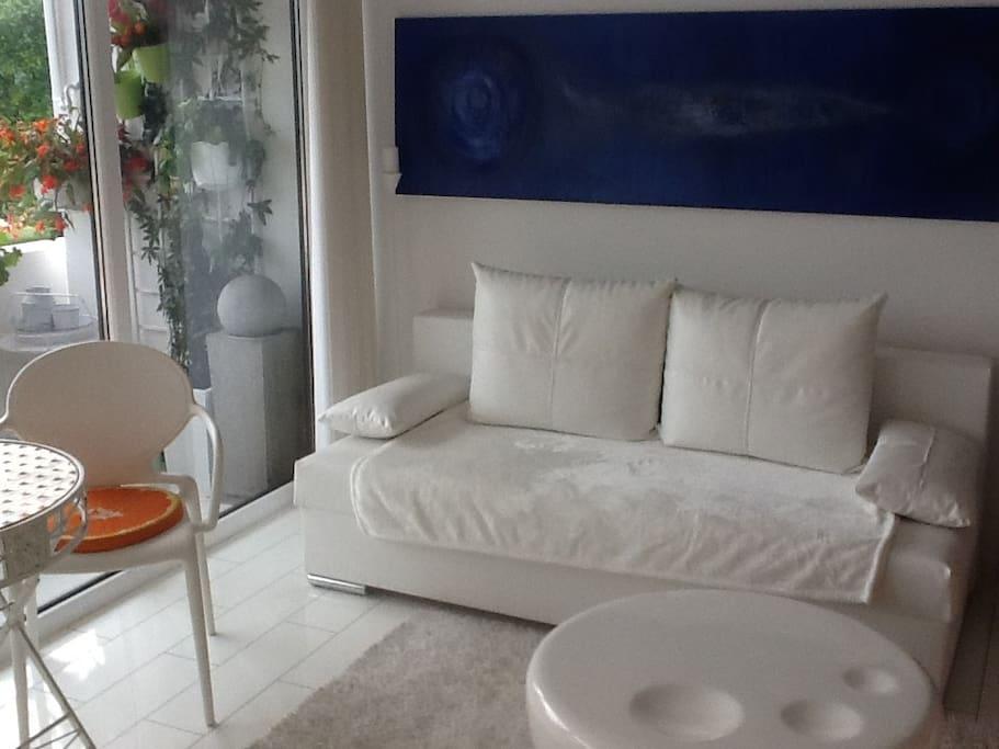 Ausklappbare Couch