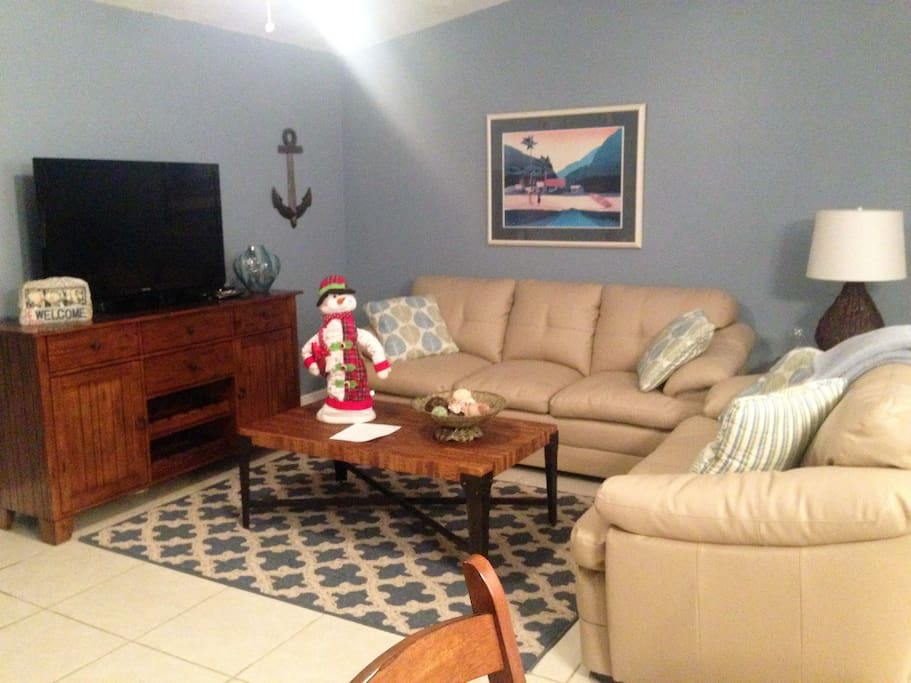 "Living Room, 42"" TV,  pull out queen sofa bed"
