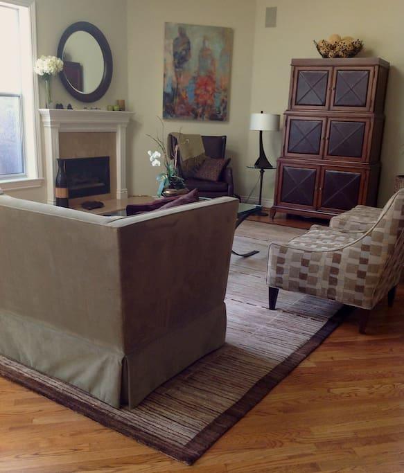 Living Room with Skylights