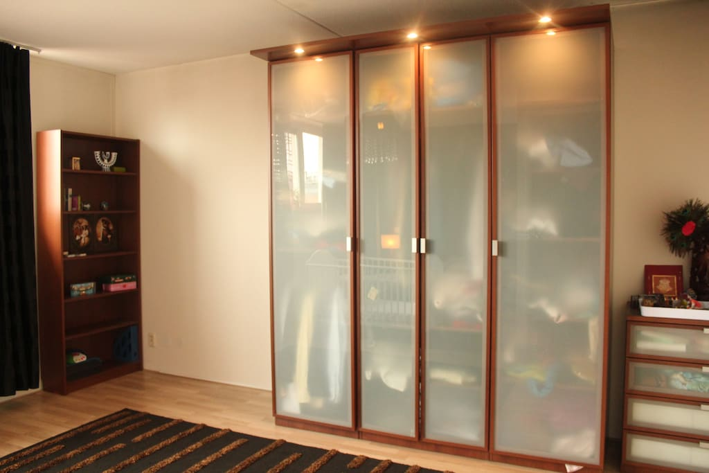 Full-size wardrobe and chest of drawers