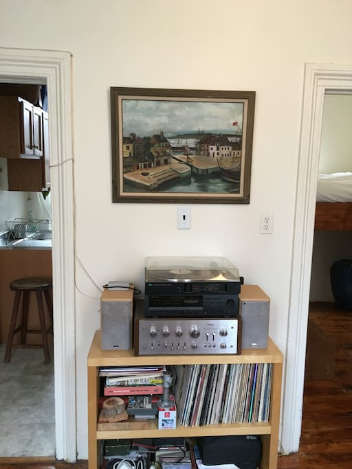 Stereo with Record Player
