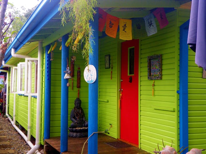Funky Arty Beach Cottage with Fruit Trees