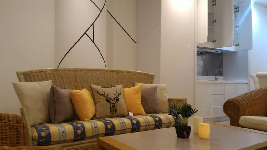 1BR condo w/ Rattan style, 5 mins drives to Gurney