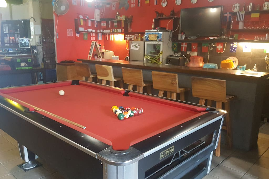 Pool table, 50% of profits go to the Orangutan project