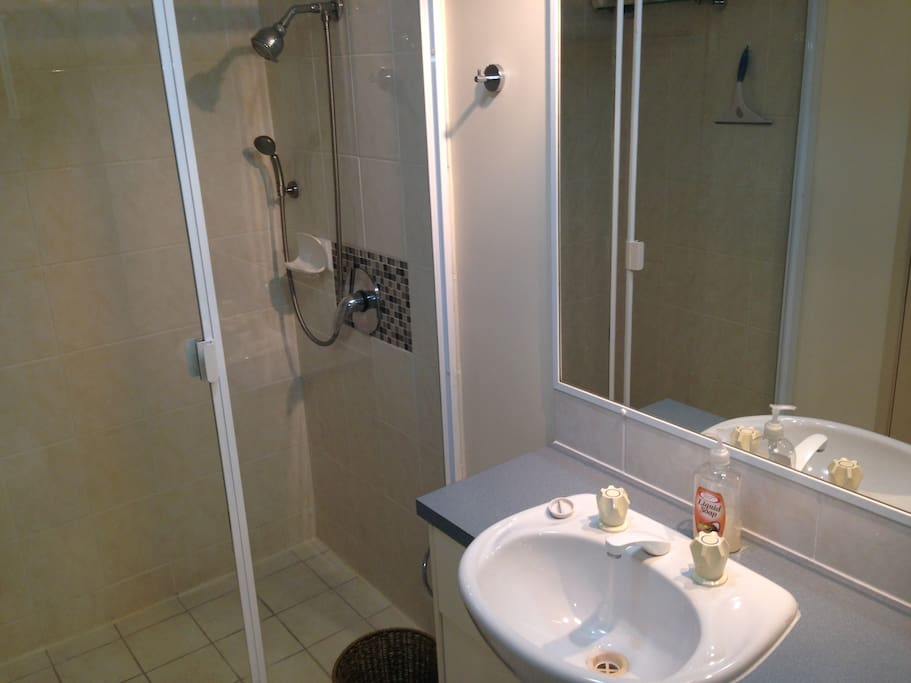 En suite bathroom large shower