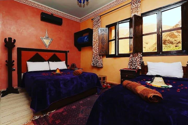 chambre privée -hotel soleil imlil