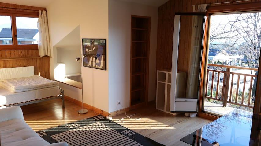 Chambre cosy avec vue Mont-Blanc - Vétraz-Monthoux - House