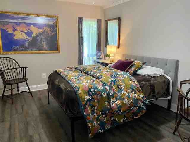 Treat yourself: Your master queen suite awaits with a walk-in closet and direct access to the bathroom.