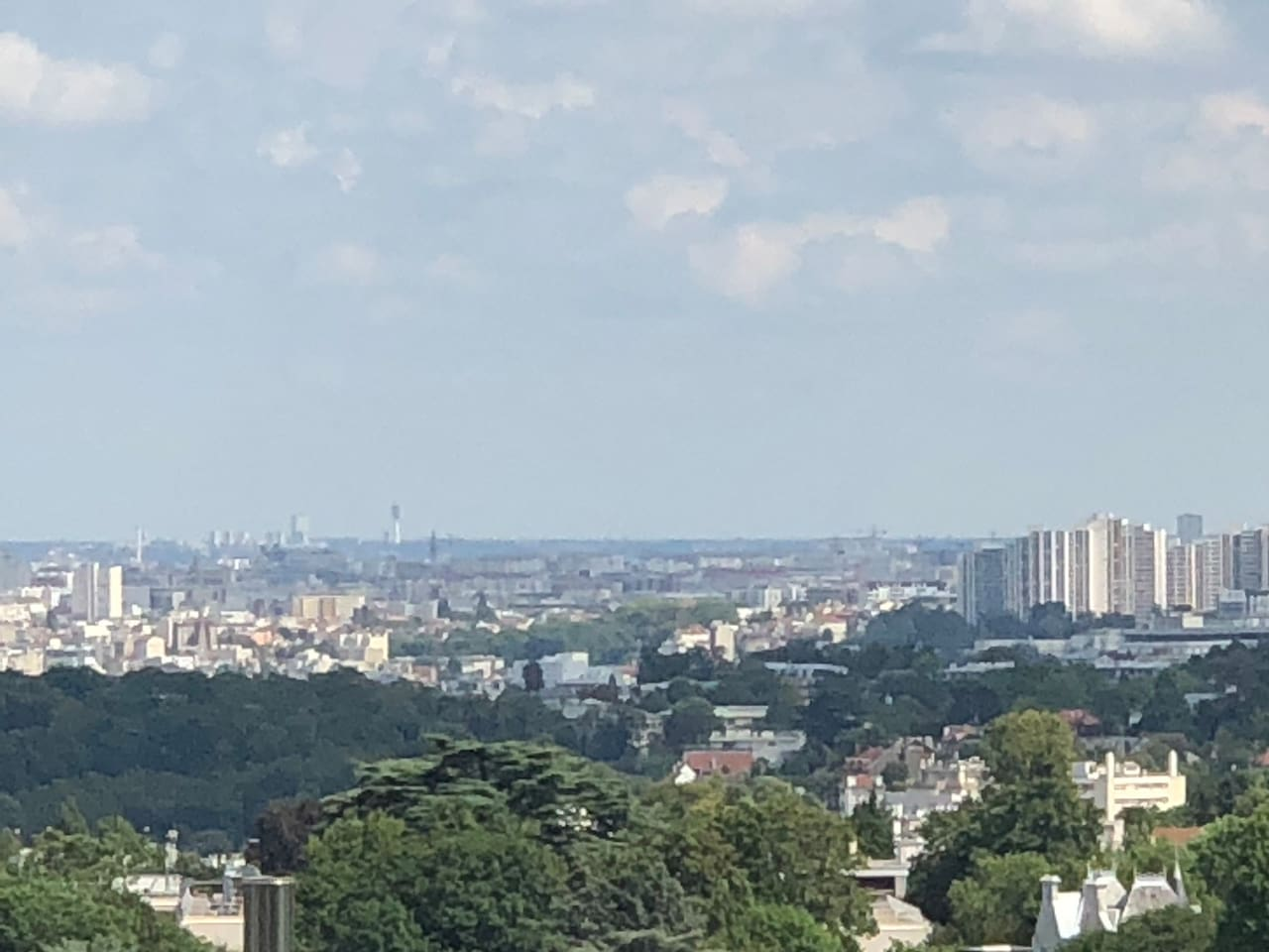 Paris, vue de l'appartement