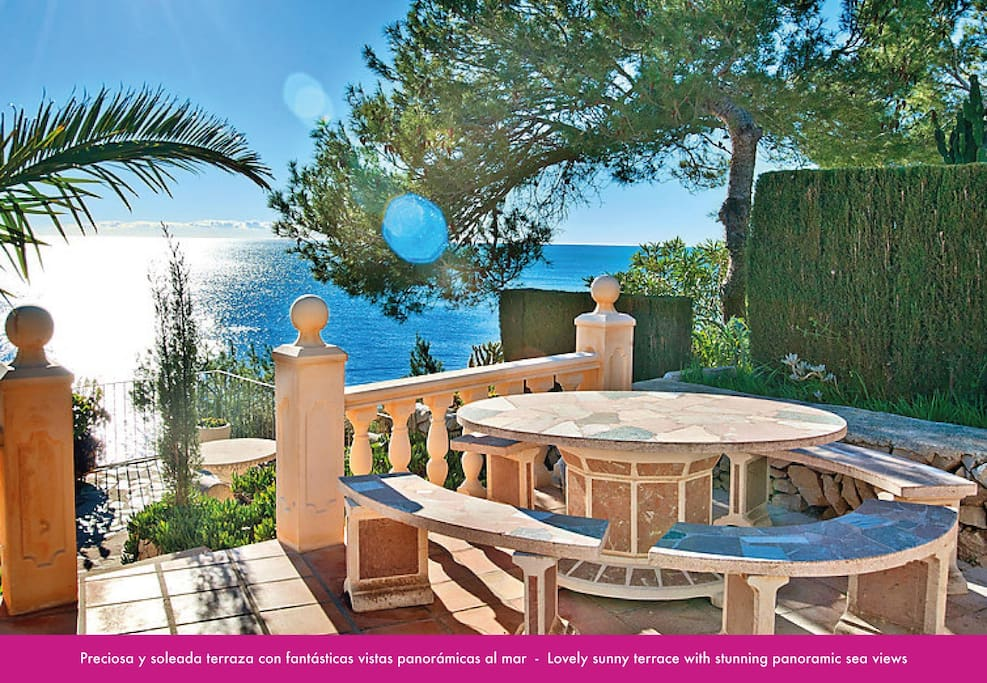 first line holiday villa in moraira