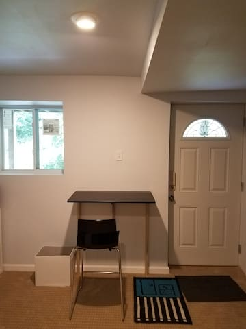 Entrance with the folding table