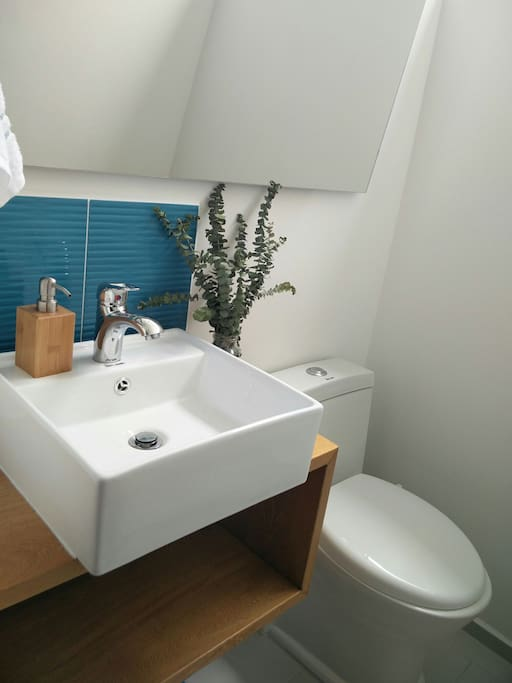 1/2 bathroom - would be your private bathroom