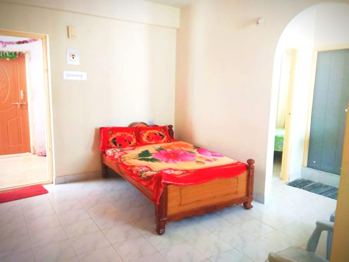 Living + Bedroom+ Kitchen - Parti Sai Ashram 2 min