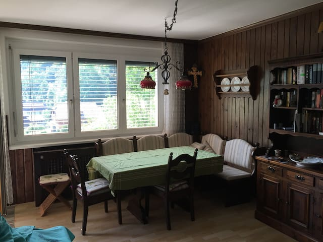 Two rooms large apartment with view of the valley