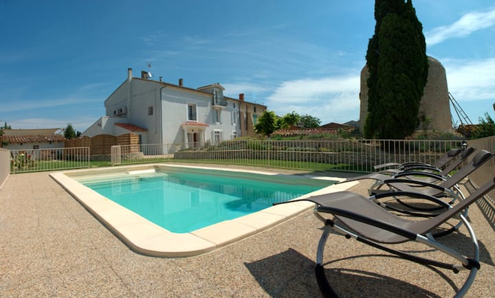 Villa with 3 bedrooms in Ventenac-Cabardès, with wonderful mountain view, private pool, enclosed garden