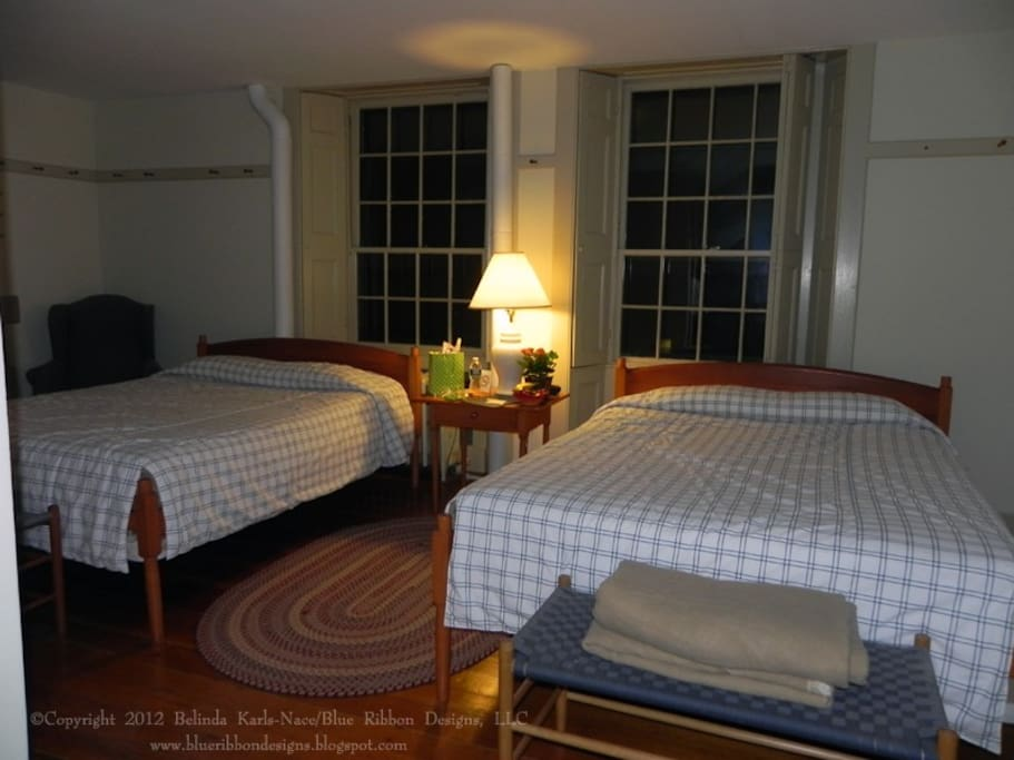 Sample Double Room - Shaker styled reproduction furniture and original architecture