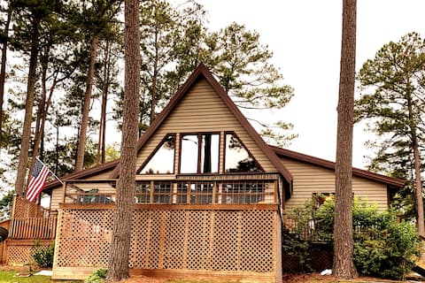 Waterfront A-frame, Private Beach & Dock