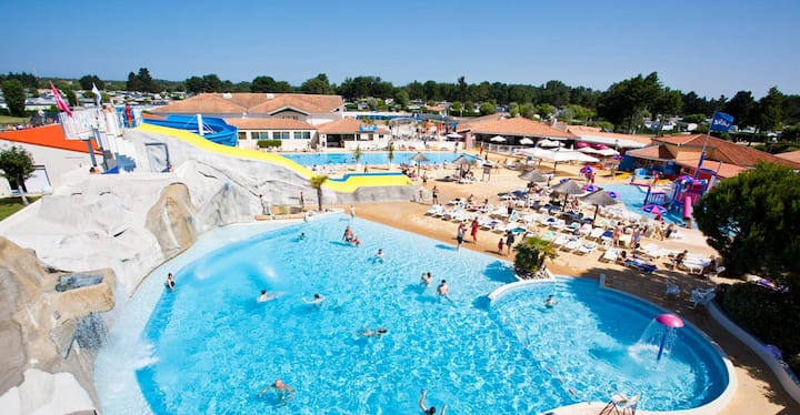 Mobil home luminosa / camping les charmette 4*