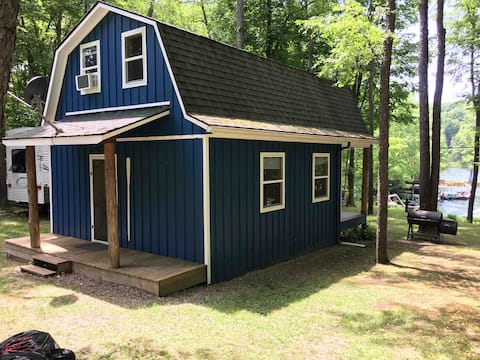 Cozy Rushford Lake Front cabin with great view.