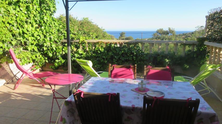 Mini Villa récente de 45 m2 vue mer et jardin .