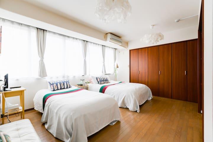 Osaka 1min Minami Area 【MAX9ppl 55㎡】Luxury Suite