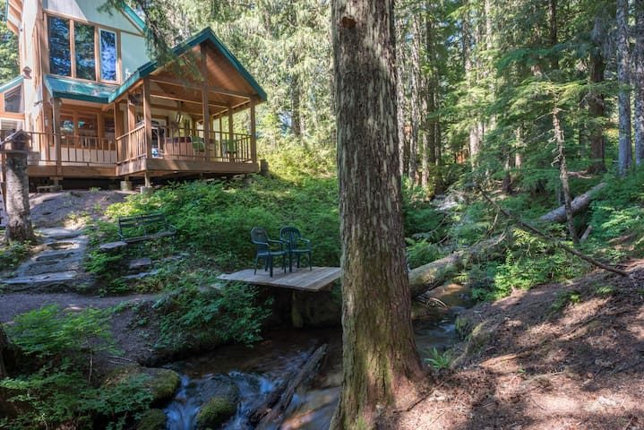 Tom's Creek Haus, a Boho chic cabin in Govy near snowshoe trails, hot tub, dog-friendly
