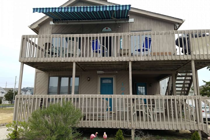 Ortley Beach convenient to everything, 3 Bed 2 Bath spacious 2nd floor with retractable awning.