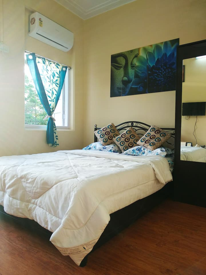 Economical 1 Ac Pvt Room + Wi Fi + Garden View